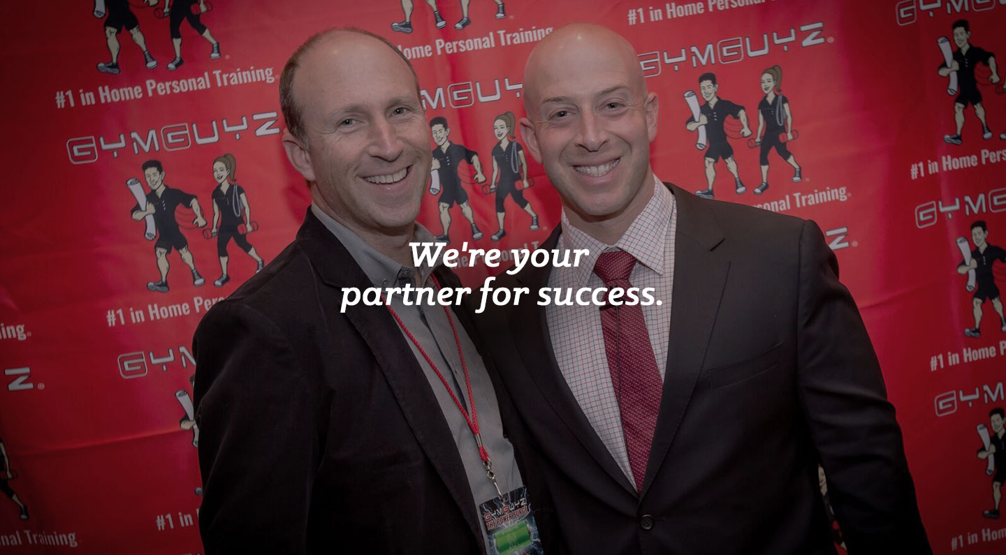 SMB Franchise Advisors President and CEO Steve Beagelman with client Josh York, founder and CEO of GYMGUYZ franchise